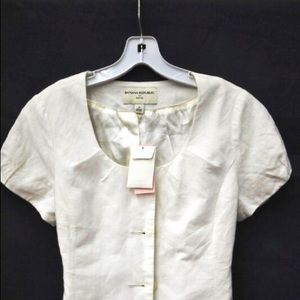Banana Republic Ivory Blouse Sz 2P NWT